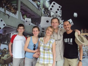 Madson and French Family at Sambadrome in Rio de Janeiro