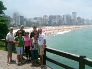Tour of Rio de Janeiro -- View of Ipanema Beach