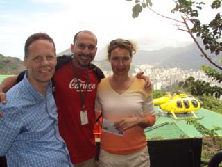 Madson, Germans Klaus and his wife after a helicopter tour in Rio de Janeiro